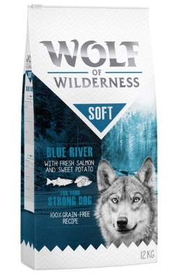"Wolf of Wilderness ""Soft - Blue River"" - Lachs 12 kg"