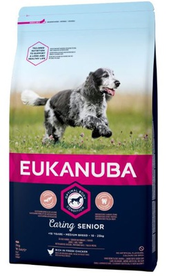Eukanuba Caring Senior Medium Breed Huhn 2 x 15 kg