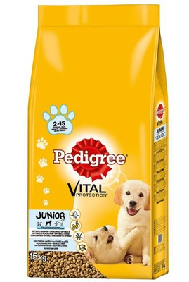 Pedigree Junior Medium mit Huhn & Reis 2 x 15 kg