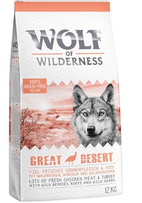 "Wolf of Wilderness Adult ""Great Desert"" - Pute 12 kg"