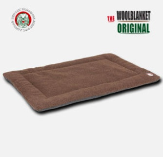 Doggy wool blanket brown S 58x45cm