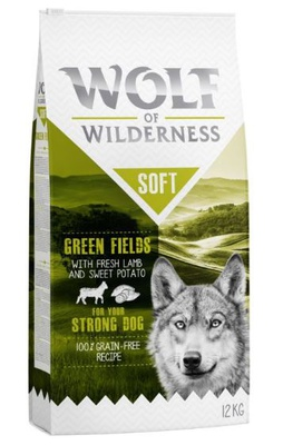"Wolf of Wilderness ""Soft - Green Fields"" - Lamm 2 x 12 kg"