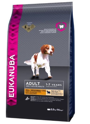 Eukanuba Adult Small / Medium Breed Lamm & Reis 12 kg